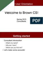 Brown CS New User Orientation
