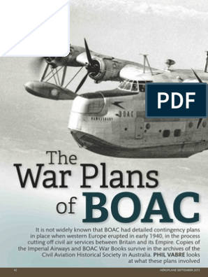 The War Plans of Boac in WW2 | British Empire | Airlines