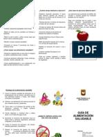 Tríptico Guía Alimentación Saludable