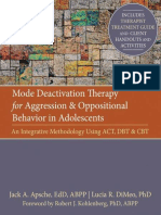 Mode Deactivation Therapy for Aggression - Kohlenberg, Robert J