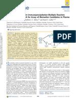 Comparison of Protein Immunoprecipitation-Multiple Reaction