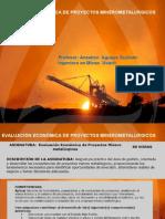 Evalución Económica de Proyectos mineros