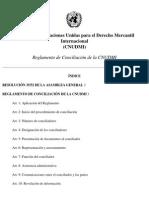 Reglamento de Conciliación de la CNUDMI
