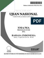 Soal UN Bahasa Indonesia SMA 2015