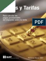 Tarifas ISR mexico