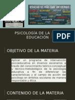 Introduccion Psicologia de La Educacion