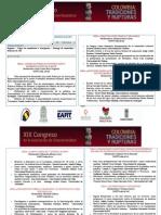 Programación XIX Congreso de La Asociación de Colombianistas 2015