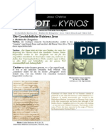 Jesus Christus - Gott und Kyrios