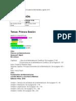 0 Horario y Temas Auditoría Administrativa