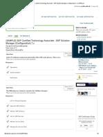 (SAMPLE) SAP Certified Technology Associate - SAP Solution Manager (Configuration) 7.pdf