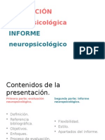Clase S. XXI Evaluación e Informe Neuropsicológico