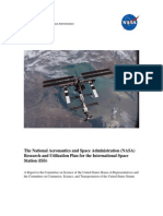 Research and Utilization Plan for the International Space Station