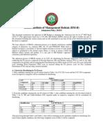 IIM Rohtak Admission Policy