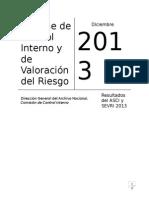Informe Control Interno Valoracion Riesgo 2013
