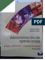 Administración de Operaciones David A. Collier Parte 1 y 2