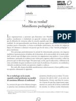 Manifiesto pedagógico