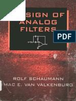 Design of Analog Filters (Rolf Schaumann & Mac E. Van Valkenburg)