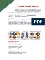 2015 Kyokushin Price List