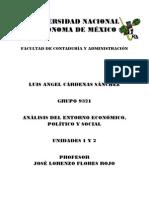 Análisis del Entorno Económico Político y Social