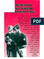 Judgement Verdict Against Yusuf Kazzab Published in Book Form and Its Forward by Ismail Qureshi Adv Mentioning Zz Hamid
