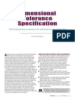 Dimensions Tolerance Specification