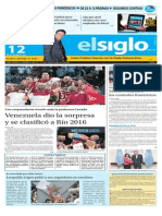 Edición Impresa El Siglo 12-09-2015