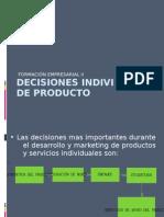 Decisiones Individuales de Producto