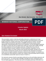 WNC Investor Update - March 2015