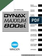 Dynax-Maxxum 800si En