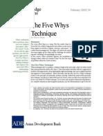 The Five Whys Technique