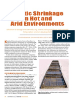 Plastic Shrinkage in Hot and Arid Environments