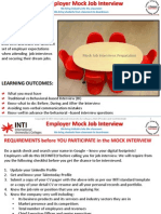 Employer Mock Job Interview