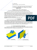 Microstrip Patch Antenna as Dual Bowtie Shaped forX-Band Applications