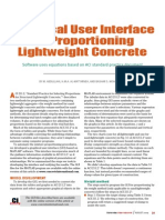 Graphical User Interface for Proportioning Lightweight Concrete