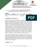 Formato Para La Presentacion Del Proyecto de Investigacion en La Exposicion Del Dia 15 y 16 de Dicieembre