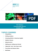 Academic English 2012