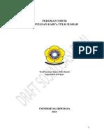 PEDOMAN PENULISAN KARYA ILMIAH UNSRI-revisi Hasil Rapat Tgl 2 Juli 2013 Draft Sosialisasi