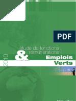 étude de Fonctions rémunérations Emplois Verts
