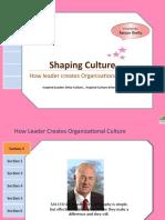 Organization Culture-How leader creates Organizational Culture……