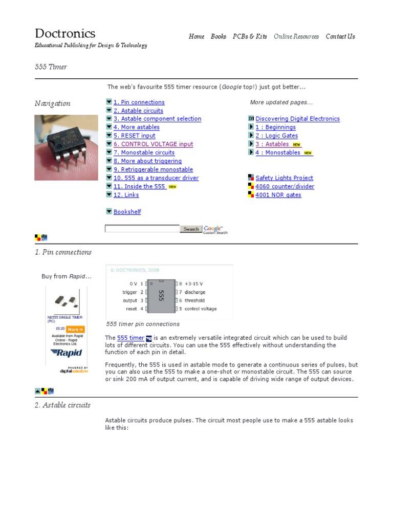 555 Timer Circuits Electronic Electronics Game Show Buzzer