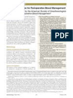 Practice Guidelines for Perioperative Blood Management