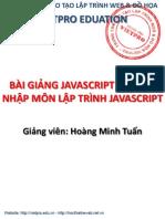 Slide Bài Giảng Javascript Của Vietpro (Buổi 01)