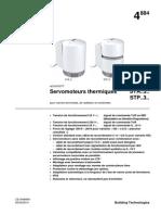 Siemens Doc Servomoteurs Thermiques STA-STP