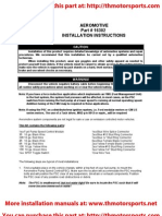 Aeromotive Part# 16302, Installation Instructions, fuel pump