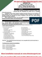 Aeromotive Part# 17101 & 17102, F-Body Fuel System Kit Installation Instructions