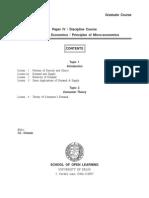 SOL BA Program 1st Year Economics Study Material and Syllabus In PDF