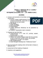 Reykjavík Meeting Agenda