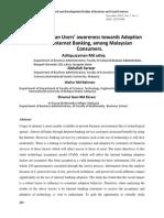 Malaysian Users' awareness towards Adoption of internet Banking, among Malaysian Consumers.pdf
