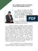 Discurso de Andrés Bañón Martínez