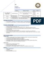 MNIT Resume Structure